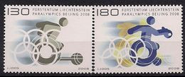 2008 Liechtenstein  Mi.  1487-8**MNH    Paralympische Sommerspiele, Peking - Neufs