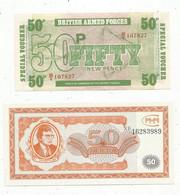 JC , Billet , EUROPE ,British Armed Forces , RUSSIE , 2 Scans , LOT DE 2 BILLETS  UNC - Kilowaar - Bankbiljetten