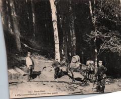 HAUT RHIN...HAUTE ALSACE A L'HARTMANNSWILLERKOPF,LA CORVEE D'EAU POTABLE...MILITARIA...CHEVAUX.. - Guerre 1914-18