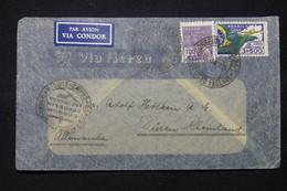 BRÉSIL - Enveloppe Pour L 'Allemagne En 1935 Par Avion ( Cie Condor Zeppelin Lufthansa ) - L 78794 - Lettres & Documents