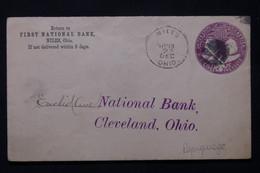 ETATS UNIS - Entier Postal Commercial De Niles En 1893 Pour Cleveland - L 78799 - ...-1900