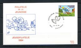 BE   FDC  2150   ---   Philatélie De La Jeunesse : Un Schtrumpf  --  Obl. Chatelineau - 1981-90