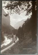 Lauterbrunnental/ Bahnlinie/ Kutsche/ Alte Fotokarte - BE Berne