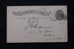 CANADA - Entier Postal Avec Repiquage Au Verso De Quebec En 1895 - L 78805 - 1860-1899 Reinado De Victoria