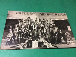 CHATENOIS   Carte Photo. Conscrits Classe 1927 Posant Devant Le Restaurant À L'Aigle - Chatenois