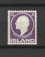 1911 SIGURDSSON 15 AUR MNH** - Ongebruikt