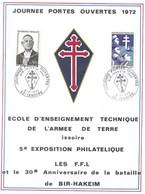 Carte Maximum Journées Portes Ouvertes BIR HAKEIM 1942 ISSOIRE 1972 Timbre 1698 / 1532 - 1970-79