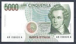 Italie - Billet De 5000 Lire BELLINI - (Firme: Ciampi / Speziali) Neuf Unc - 5000 Liras