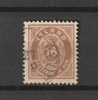 1876 16 AUR PERF 14X13.5 FINE USED - Gebruikt