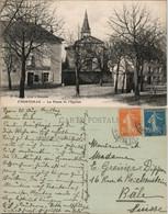 CPA Frontonas Le Place Et Hotel Gabriel 1914 - Unclassified