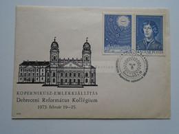AD033.50  Hungary -  FDC  Kopernikusz - Copernicus 500  Birth Anniv.  Debrecen 1973 - FDC