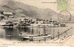 "MONTE CARLO  Vue Générale Et Yacht """""""""""""""" Princesse Alice """""""""""""""" - Monte-Carlo"