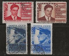 Russie 1940 N° Y&T : 778 à 781 Obl. - Gebruikt
