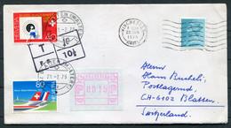 1979 GB / Switzerland Winchester Cover - Blatten. Frama, Automatenmarken, Postage Due, Taxe - Briefe U. Dokumente