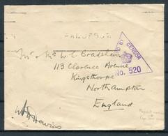 GB / South Africa O.A.S. Censor Cover. Cape Town PAQUEBOT - Kingsthorpe Northampton - Briefe U. Dokumente