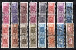 BIGX43 - REPUBBLICA , Pacchi Postali Stelle : 16 Valori Diversi Usati - Postal Parcels