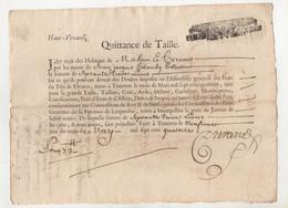 Ardèche Mahun Et Veyrines Quittance De Taille Haut Vivarez 1714 - Manuskripte