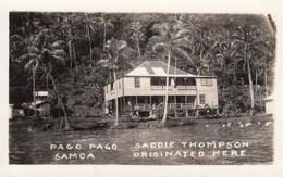 Pago Pago Samoa, 'Saddie Thompson Originated Here' Sadie Thompson Inn, C1920s/40s Vintage Real Photo Postcard - Samoa