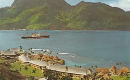 Pago Pago Samoa, Americana Hotel, View Of Harbor, Ship, C1960s/70s Vintage Postcard - Samoa