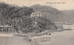 Pago Pago Samoa, Government House Overlooking Harbor, US Naval Station Tutuila C1910s Vintage Postcard - Samoa
