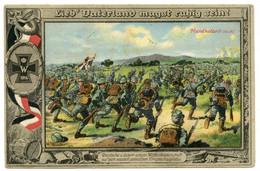 WW. 1914-18. Patriotique. Allemands Et Leurs Frères D'armes Autrichiens-Hongrois Pénètrent  En Pologne-Russe. - War 1914-18
