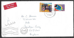 USED AIR MAIL COVER SOUTH AFRICA TO ENGLAND - Other