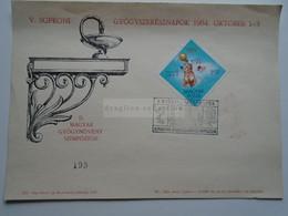 AD033.64   Hungary - Sopron Journées Pharmaciens  Gyógynövényszimpozion    - Water Polo -  Tokyo 1964 - Brieven En Documenten