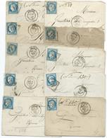 LOT DE 10 LETTRES AVEC N° 60 BLEU CERES / ARRAS /  LOT 13 - 1849-1876: Klassieke Periode
