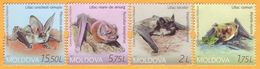 2017 Moldova Moldavie Moldau Protected Fauna. Red Book. Bats Set Mint - Moldawien (Moldau)