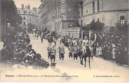 EVENEMENT Event FETE - 35 - RENNES Fête Des Fleurs 1910 : Le Marchéal De Biron Et Suisses Du Roy - CPA - Ille Et Vilaine - Andere