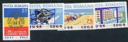 ROMANIA 1964 Overthrow Of Fascist Regime MNH / **.  Michel 2305-08 - Nuevos