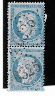 TIMBRES N° 60/A ; PAIRE VERTICALE 123 A2/ 133 A2 (1 Er  état) - 1871-1875 Cérès