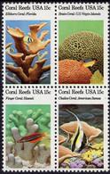 USA - 1980 - Coral Reefs - Mint Stamp Set (se-tenant Block) - Unused Stamps