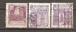 España/Spain-(usado) - Edifil  974, 977, 980 - Yvert  730-32 (o) - 1931-50 Used