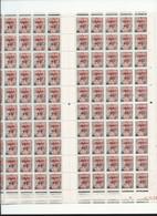 Feuille Complète De  100 Timbres Du N° 1229 Marianne à La Nef Surchargé Fréjus. - Full Sheets