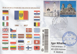 Moldova 2017 25 Years Of Diplomatic Relations Moldova - Bulgaria Special Concellation - Sobres