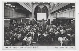 PAQUEBOT TRANSATLANTIQUE ILE DE FRANCE - N° 149 - SALLE A MANGER DES 1ere CLASSE - CPA NON VOYAGEE - 75 - Paquebots