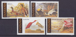 Tanzania 1986 Mi. 315-18 John James Audubon Bird Vogel Oiseau Ibis Ernte Löffler Complete Set, MNH** - Tanzania (1964-...)