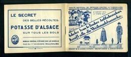 Carnet Alsace-Lorraine De 1931  - Tuberculose - Antituberculeux - Pubs Bleu - Nombreux Thèmes. - Antitubercolosi