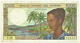 Comoros - 1000 Francs - ND ( 1994 ) - Pick 11.b - Comores 1.000 - Comoros