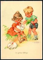 E2906 - Lungers Hausen Glückwunschkarte - Kinder Hase - Geburtstag