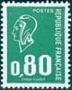 France N° 1891 ** Marianne De Béquet - LE 0f80 Vert - Typographié 1 Bande De Phosphore - Nuevos