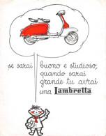 "1642 ""CARTA ASSORBENTE - LAMBRETTA "" Misure (15.00 X19.0) - Bikes & Mopeds"