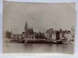Belgique. Liège. Hôtel Des Postes. Grand Poste. Bateaux. 1905. 8x11 Cm - Plaatsen