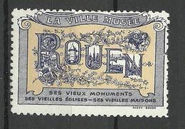 FRANCE Rouen La Ville Musee Poster Stamp Vignette * - Otros