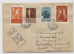 MAIL Post Cover USSR RUSSIA Sport Tennis Motorcycle Volleyball - Covers & Documents