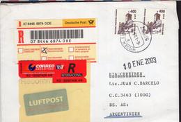 Deutschland - Brief - 2003 - Luftpost - Argentinien - A1RR2 - Cartas
