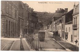 54 LONGWY BAS - Rue De La Gendarmerie Animée - Tramway Mont St Martin - Imprimerie - Cpa Meurthe Et Moselle - Longwy