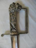 Sabre A Identifier, Total 98cm, Lame 83,5cm,old Sword - Knives/Swords