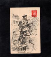 CPA - FUSILIERS MARINS (1870-1871) - Cachet SALON DE LA MARINE Sur Timbre Pétain - Au MUSEE De La MARINE - Reggimenti